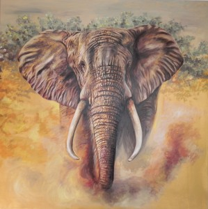 Elephant on Canvas 2