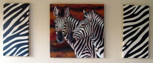 Zebra abstract acrylic